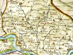 Landkarte 1719, Oberhausmuseum Passau